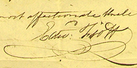 1809 letter from Edward Fiott to his nephew John Fiott (Lee 31)