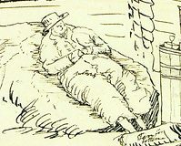 Self-portrait of John Lee from his 1808 Scandinavian sketchbook