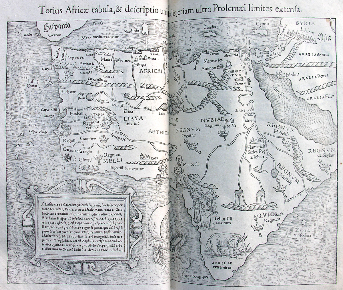 4be49ceb58 Map of Africa from Sebastian Münster s Cosmographia