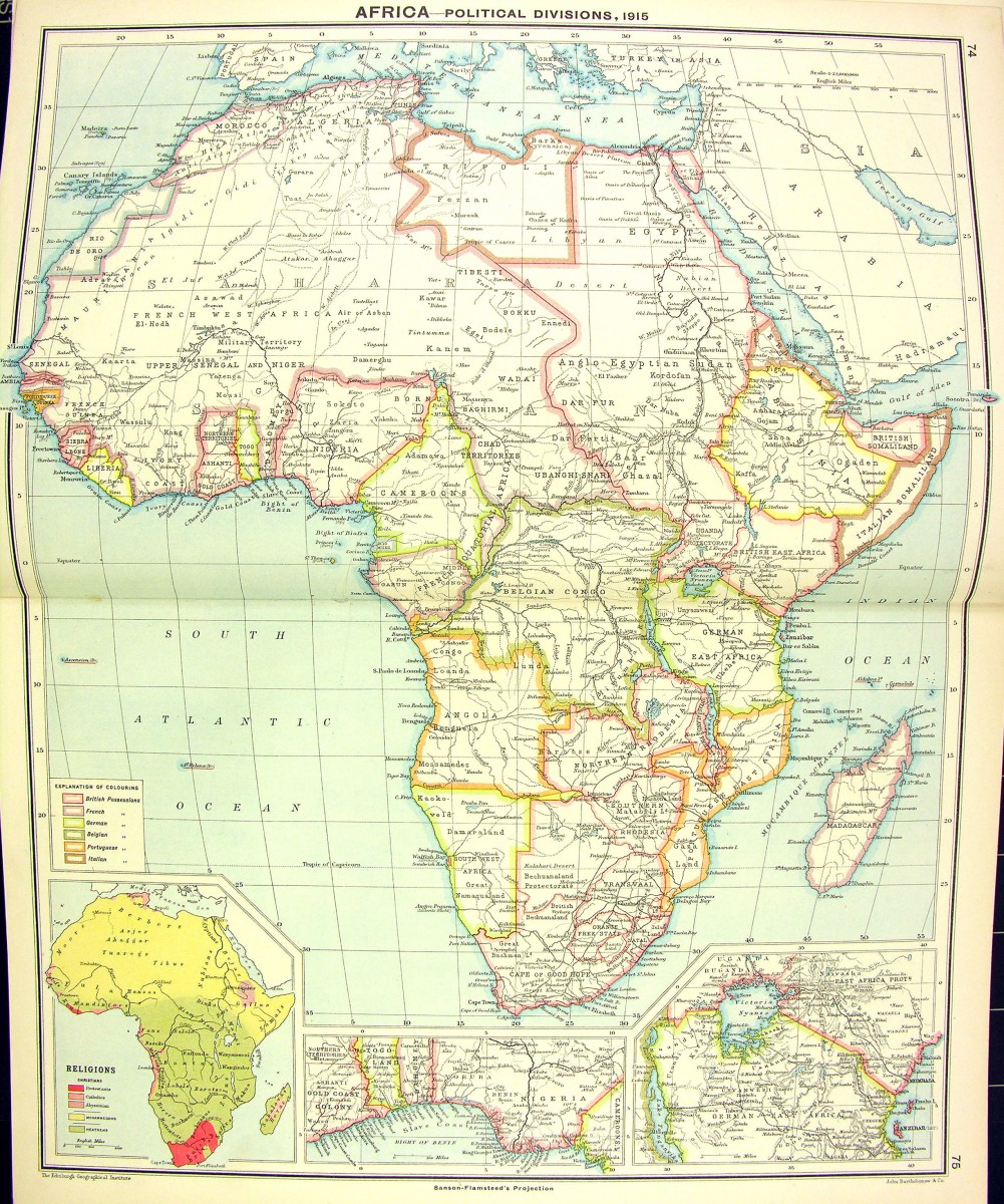 Numbered Map Of Africa.The Scramble For Africa Stjohns