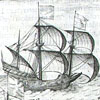 Dutch ship from 'A history of the affairs and the town of Amsterdam', published in 1611