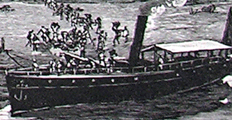 River Steamer from 'In Darkest Africa' (1890)