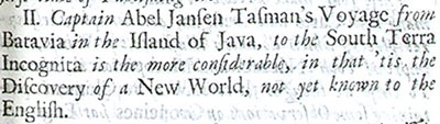 From 'An account of several late voyages and discoveries' published in London in 1694