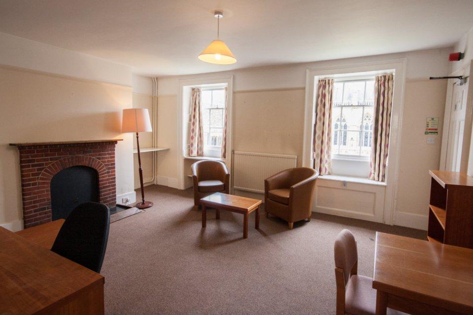... Court, H Staircase, single, living area | St John's College, Cambridge
