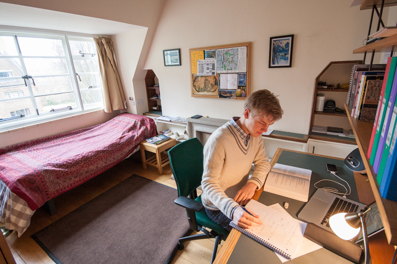 North Court, bedroom in a double set   St John's College, Cambridge