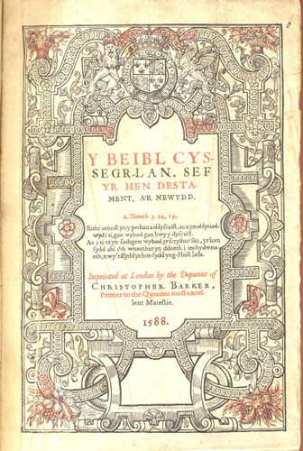 The Bible In Welsh London Christopher Barker 1588