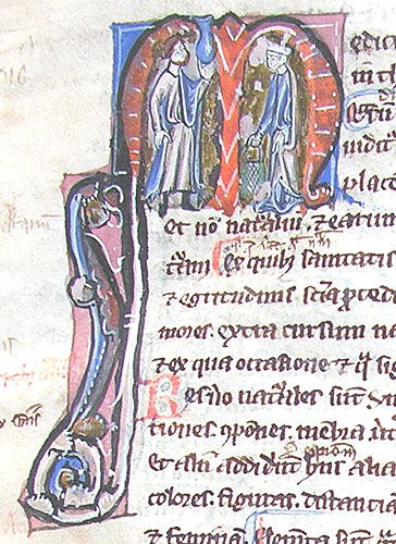initial M incorporating a physician and a woman