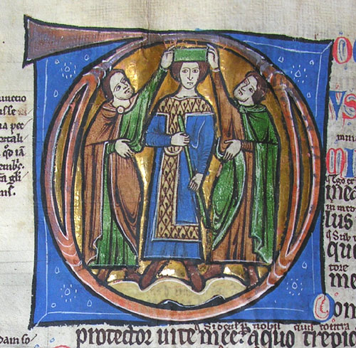 initial D incorporating the crowning of David or Solomon