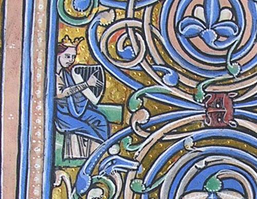 King David harping