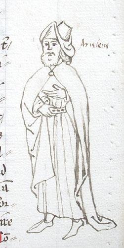 marginal drawing of Aristeas