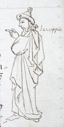 marginal drawing of Leucippus