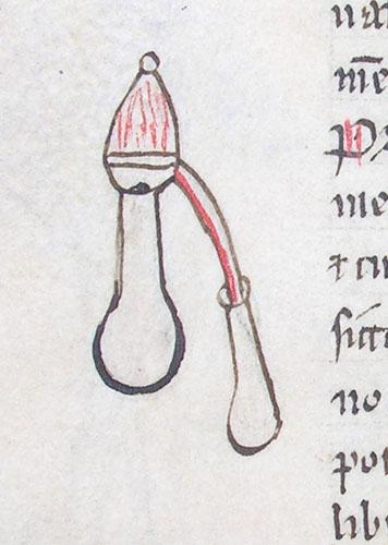 marginal drawing of scientific apparatus