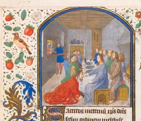 miniature depicting the Last Supper