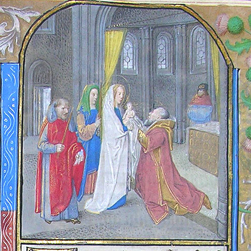 miniature depicting the Presentation in the Temple