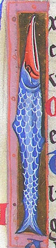 initial I incorporating a fish