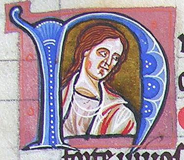 initial N incorporating the bust of a man