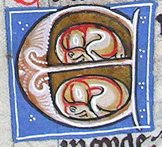 initial E incorporating two sleeping dogs