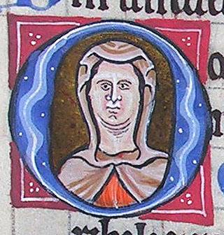 initial O incorporating the bust of a woman