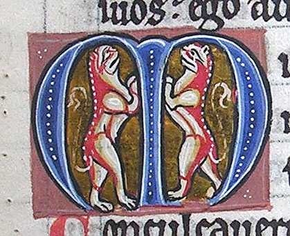 initial M incorporating two cats