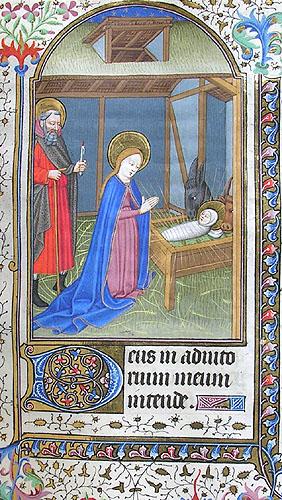 miniature depicting the Nativity