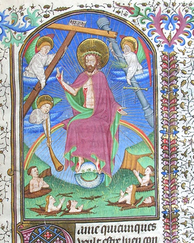 miniature depicting the Last Judgement