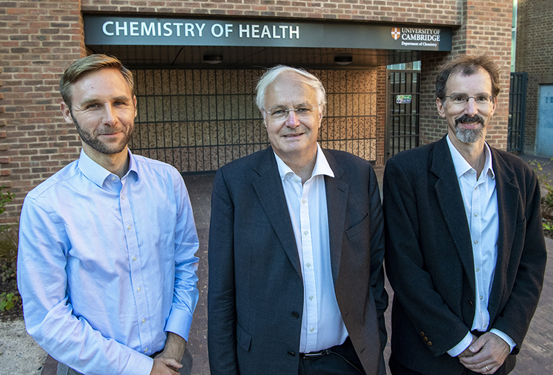Sir Christopher Dobson, Professor Tuomas Knowles, Professor Michele Vendruscolo.