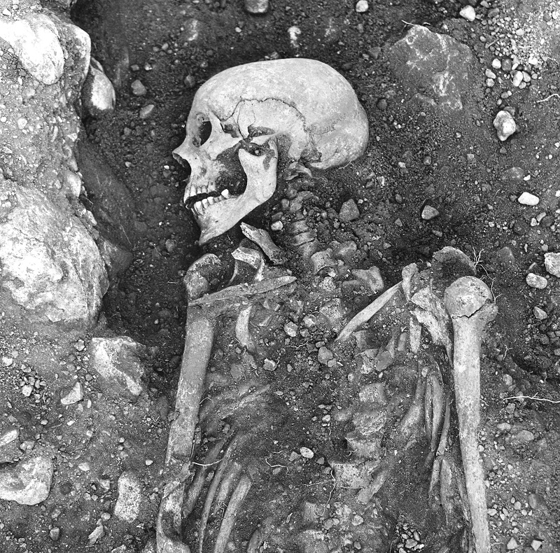 A 1200-year-old smallpox-infected Viking skeleton found in Öland, Sweden. Credit_ The Swedish National Heritage Board