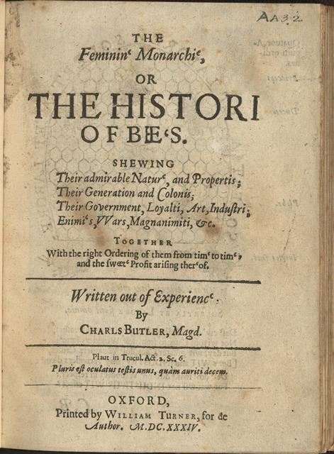 Title page of 'The feminine monarchy'