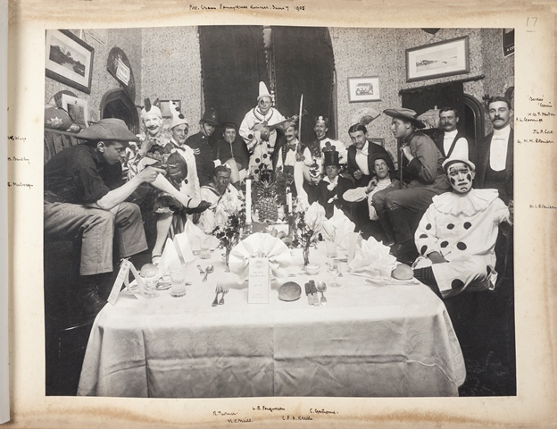 A fancy dress party in a student's room, 7 June 1905