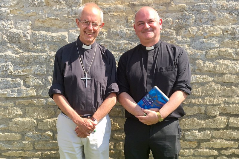 Archbishop of Canterbury Justin Welby and the Revered Canon Mark Oakley
