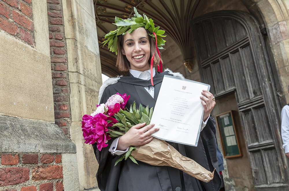 A graduate outside the Great Gate