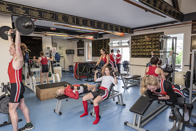 LMBC members work out in the Boathouse gym