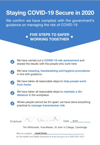 Staying Covid-secure
