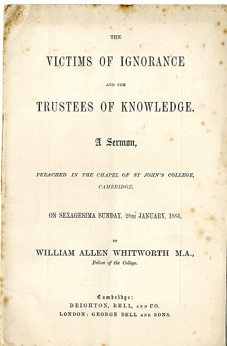 W.A. Whitorworth's sermon