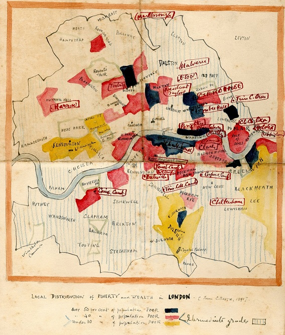 Poverty map of London, 1917