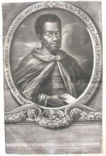 One of the frontispiece portraits