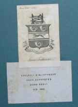 Bookplate and label